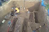 Розкопки під знищеним пам'ятником УПА в Грушовичах (Польща)