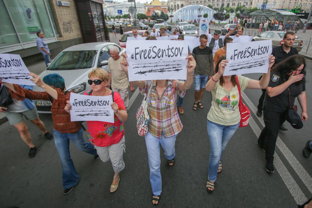 Мітинг на підтримку українських політв'язнів у Києві