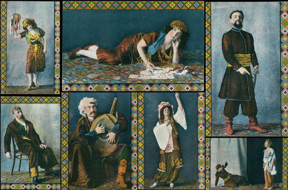 Українські актори на унікальних кольорових фото 1914 року