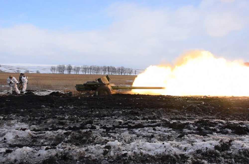 В районі ООС артилеристи тренувалися відбивати можливий наступ ворога