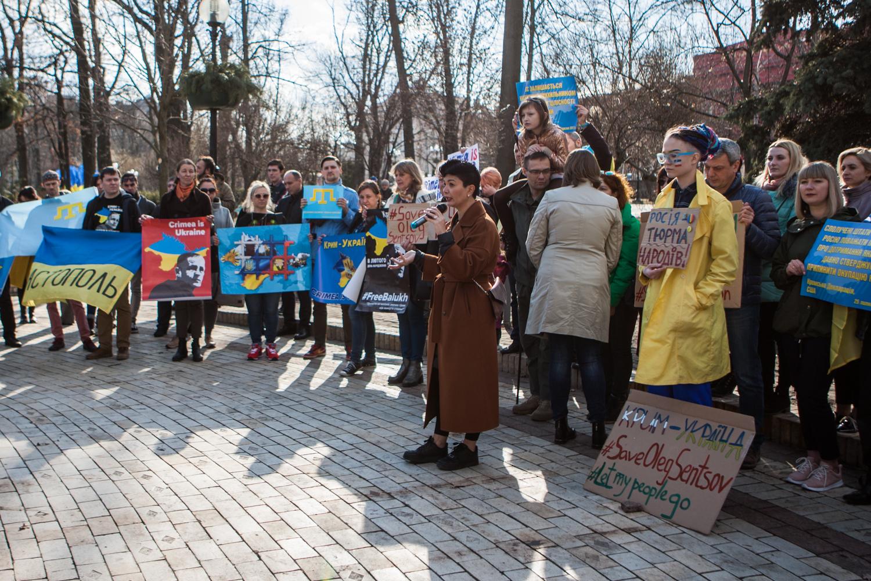 Акція солідарності з кримчанами у День народження Шевченка