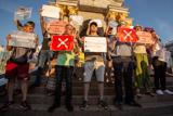 Протест проти реєстрації Клюєва і Шарія кандидатами в депутати