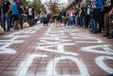 Річниця нападу на Гандзюк. Активісти запалили фаєри під СБУ