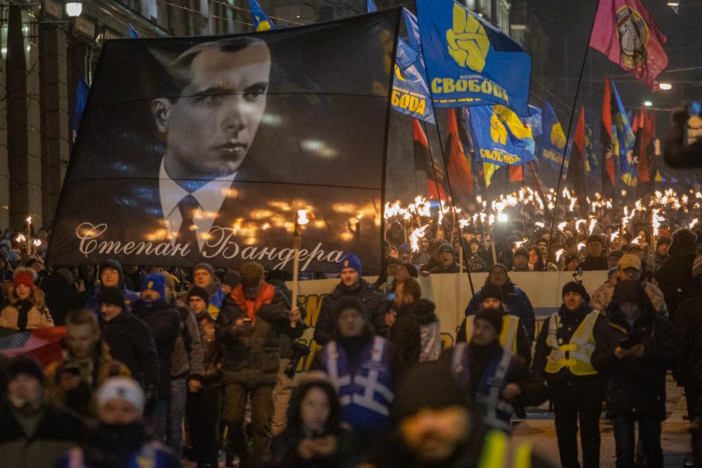 Марш у Києві на честь Степана Бандери
