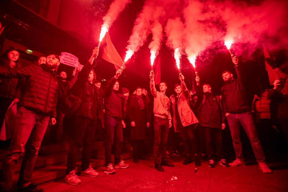 """""""Ні Мінській зраді!"""" На Банковій протестували проти визнання ОРДіЛО"""