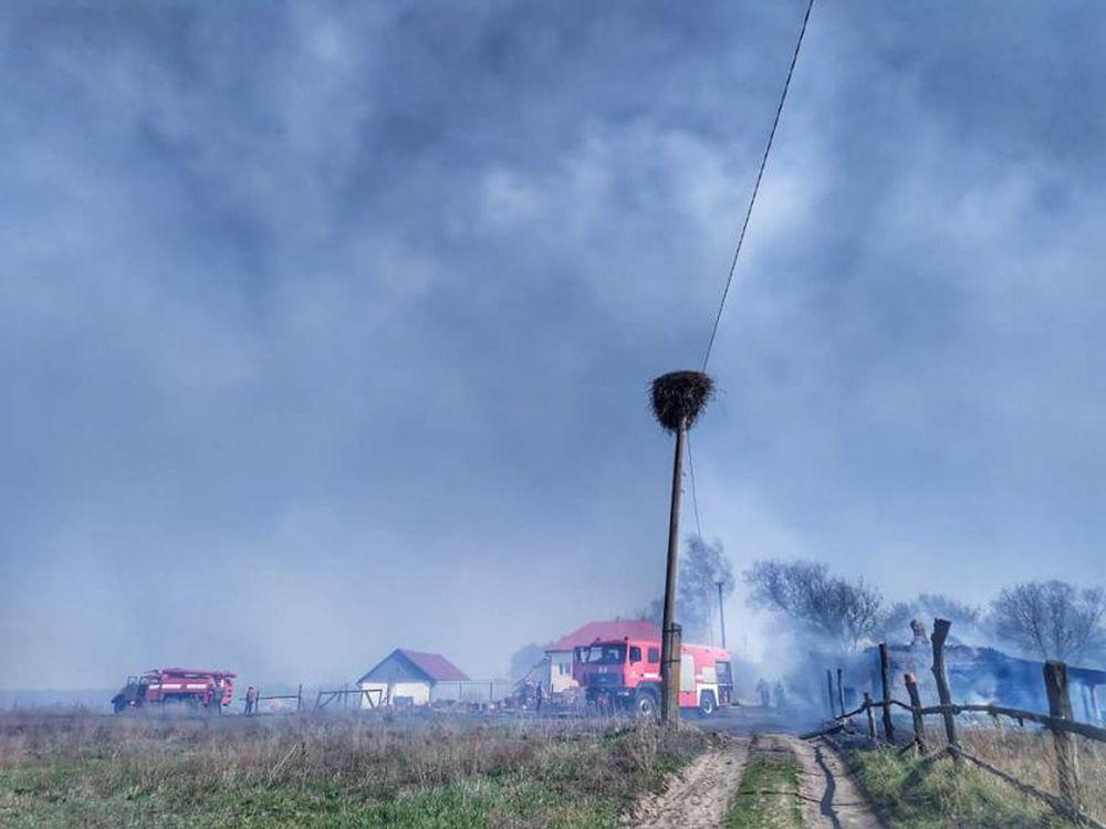 Пожежа на арт-хуторі «Острів Обирок»