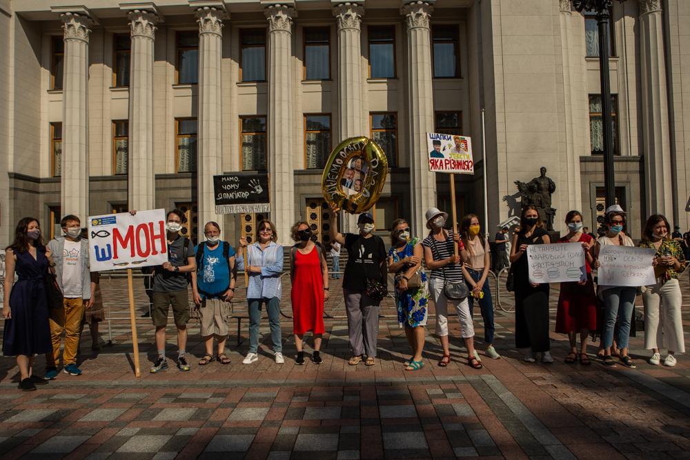 «Шкарлет нам не міністр!» Протест науковців проти призначення екс-регіонала очільником МОН