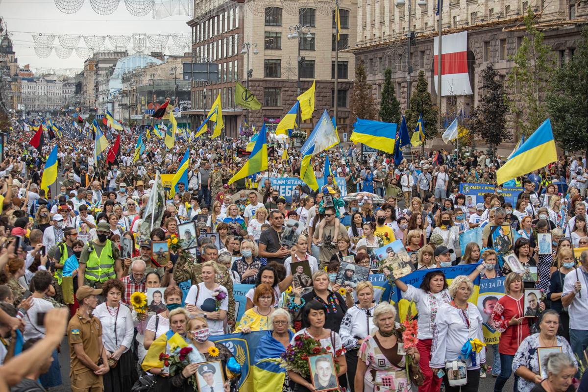 Марш захисників на День незалежності у Києві