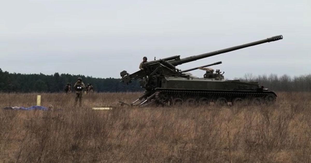 Навчання артилерії з бойовою стрільбою