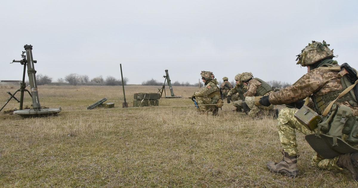 Українські військові виконали  практичні тренування з облаштування мінно-вибухових загороджень