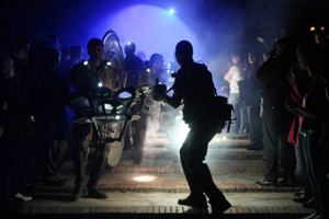 Вогненно-музичне шоу в рамках закриття щорічного фестивалю «Французька весна»