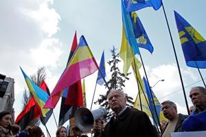 Пікет біля посольства Росії у Києві