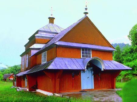 Церква Св. Миколи в с. Залокоть. Збудована 1797 року, спалена у 2006 - му.