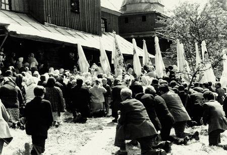 Підпільне богослужіння у сільській церкві в 1960 -их роках