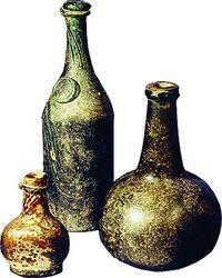 Скляний посуд. XVII - XVIII ст.