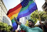 Український прапор на гей-параді в Нью-Йорку
